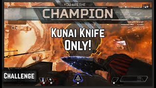 Secret Kunai Knife Only Challenge! Wraiths Heirloom Set! Apex Legends