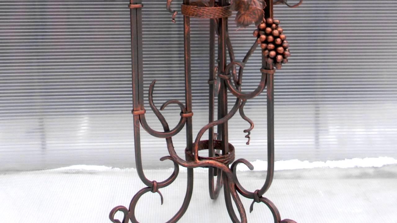 Красивая кованая подставка для цветов напольная металлическая .