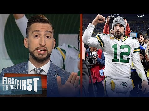 Nick Wright reacts to Packers win over Lions after controversial calls | NFL | FIRST THINGS FIRST
