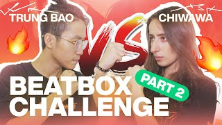 Boyfriend Vs Girlfriend Beatbox Challenge 🔥 (Part 2) - Trung Bao & Chiwawa