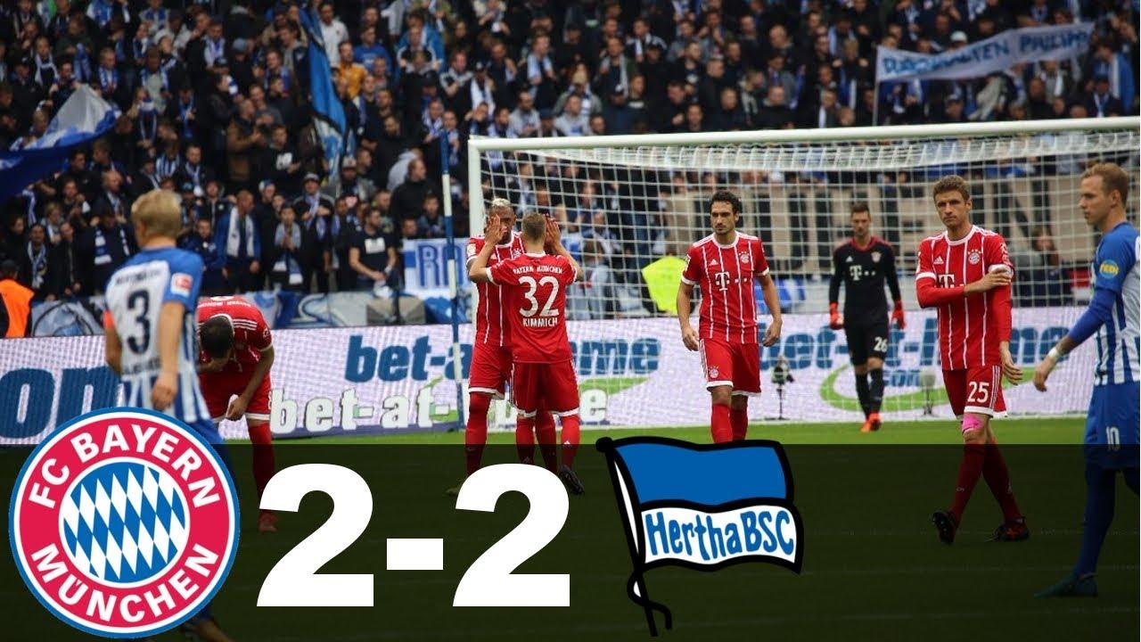 Bayern Munich Vs Hertha Berlin 2-2 All Goals And Highlights 1 10 17  Bundesliga 2017 18 HD c1656eb72