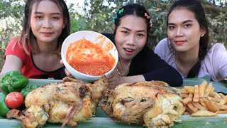 Cooking chicken roasted with potato crispy recipe - cooking skill