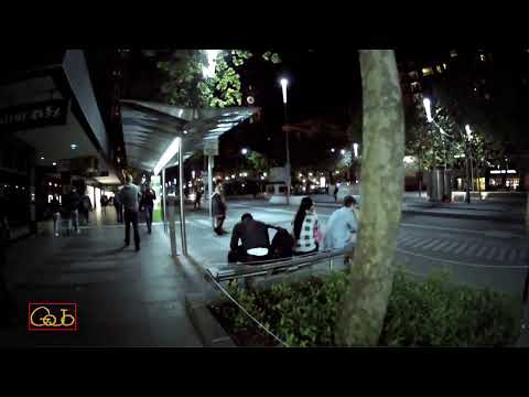 Swanston St at Night | Steadicam Walking tour Melbourne