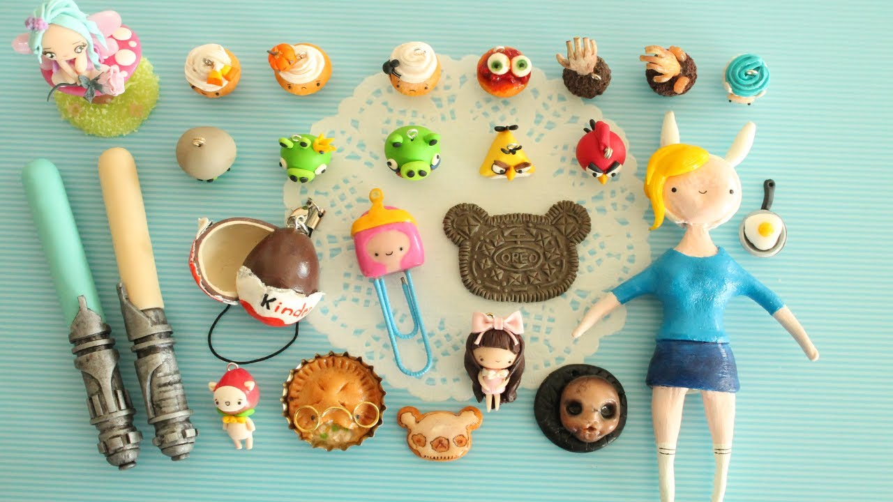 polymer clay charm update #6 - cupcakes, paperpastels, halloween