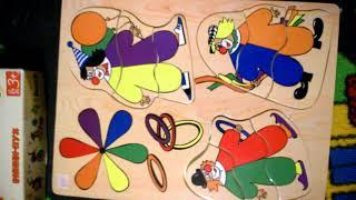 Обзор. Макси Пазлы для детей, плюс коврик пазл из 6 квадратов.
