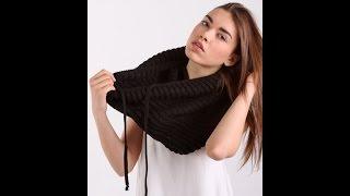 Снуд , как связать шарф снуд , вязаный снуд ,снуд спицами , шарф ,вязаный шарф,шарф спицами
