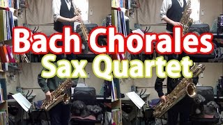 Bach Chorales on Sax Quartet