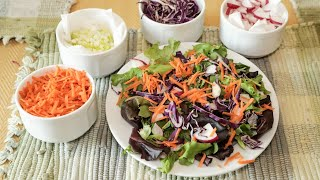 How To Have A Salad Ready In SECONDS⏱    TIPS AND TRICKS