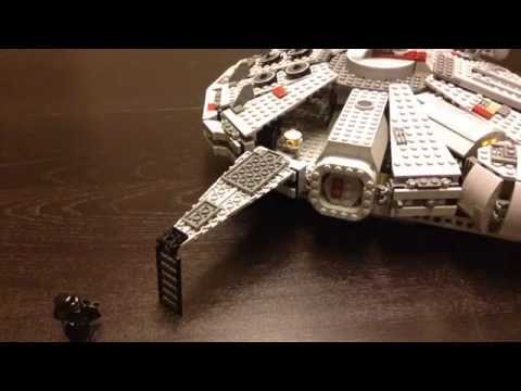 Star Wars Lego Millennium Falcon Stop Motion Animation Unboxing Assembly Brick Film