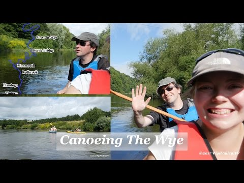 From Kerne Bridge to Redbrook by Canoe on the River Wye.