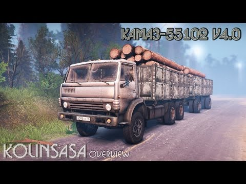 Spintires 2014 - КамАЗ-55102 v4.0
