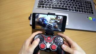 bluetooth геймпад для андроид смартфона и ПК Gamepad for android and PC TERIOS T 3