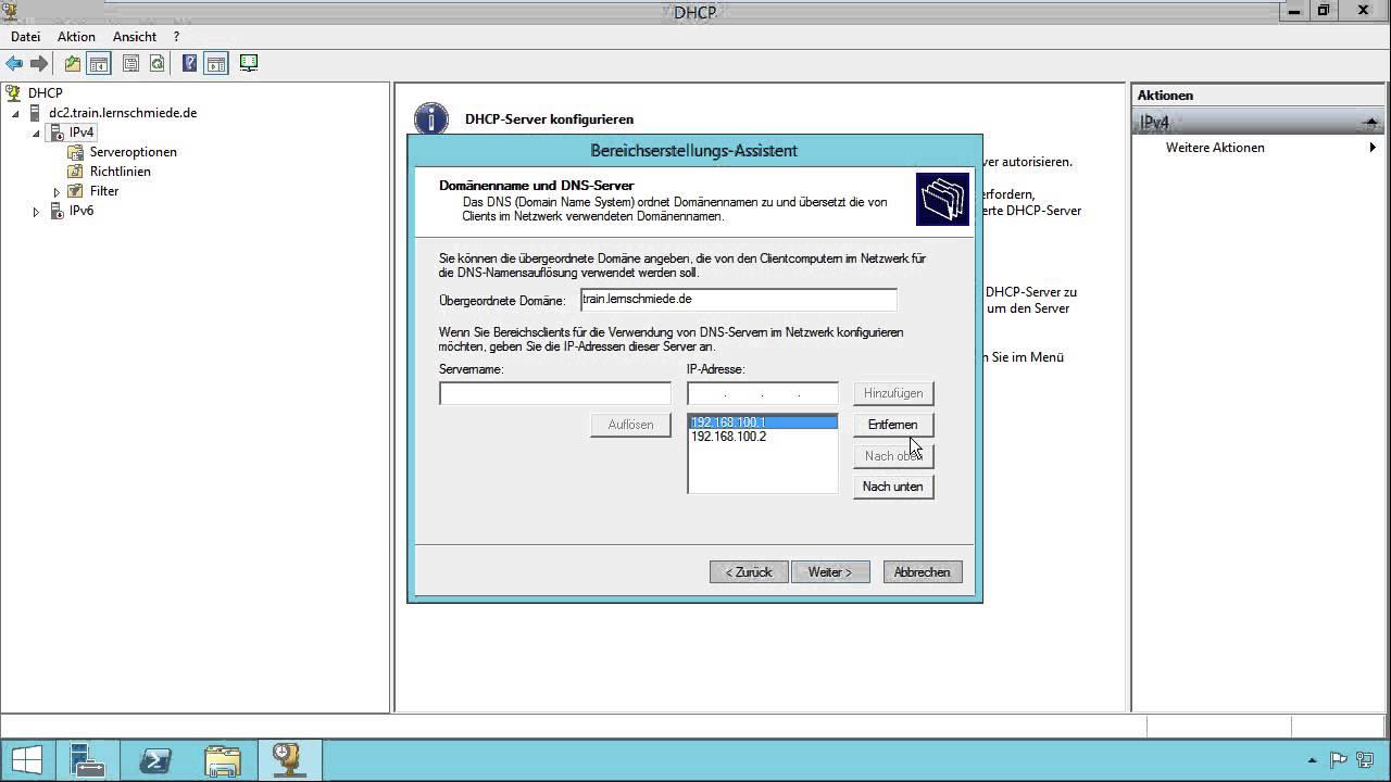 Netzwerkgrundlagen Tutorial: DHCP-Server einrichten video10brain.com