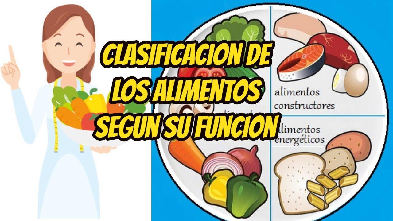 CLASIFICACIÓN DE LOS ALIMENTOS SEGÚN SU FUNCIÓN /APRENDE EN CASA - YouTube