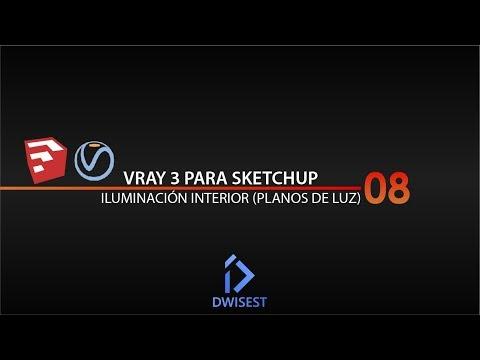 Vray 3 para Sketchup - Iluminación Interior - Tutorial 08