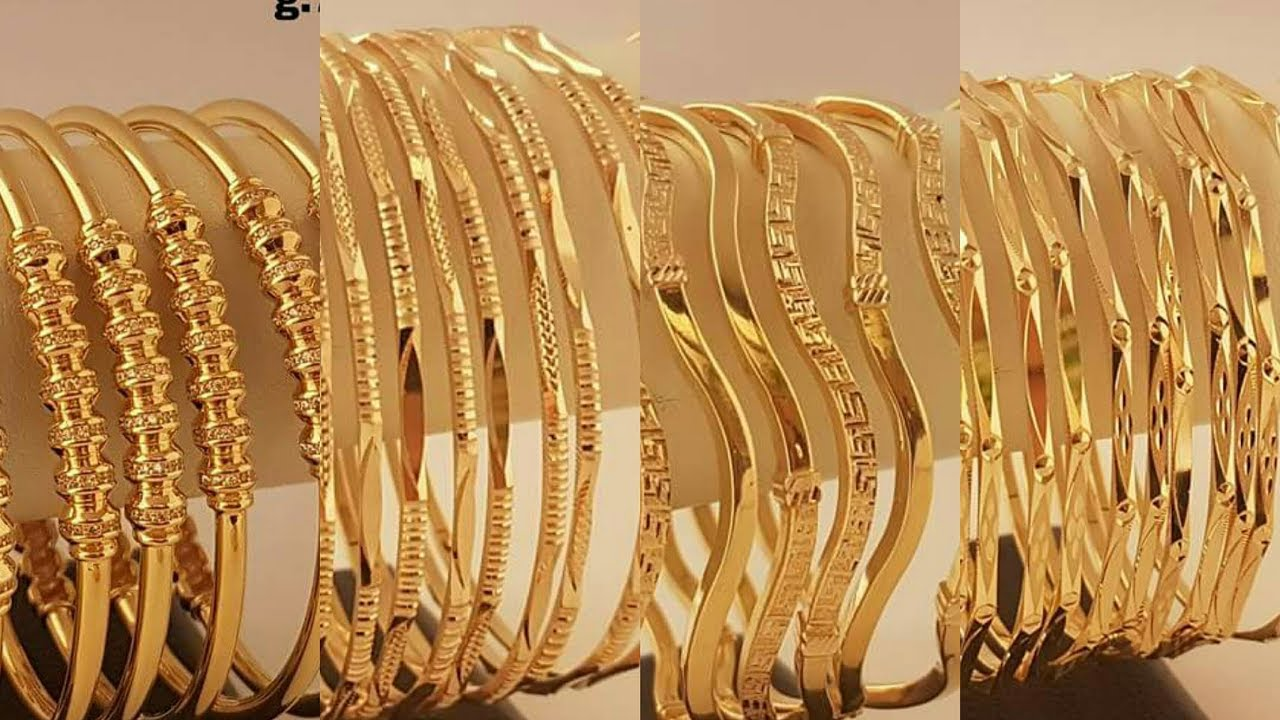 of online piece bangles set buy stamped white gold at thin goldsilver