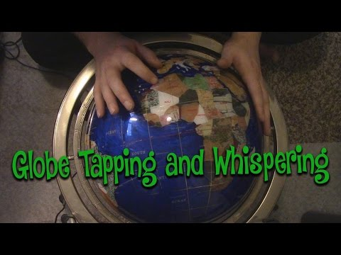 Binaural ASMR Globe tapping with Whispering Names of Countries