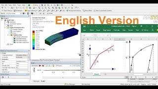 Ansys Static Analysis Tutorials-Plasticity Analysis-English Version