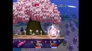 SSBB: Rae(Falco) vs Wilman (Snake)