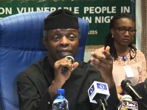 Osinbajo At The Roundtable on Vulnerable People:  'People Still Believe in Us To Do Something'