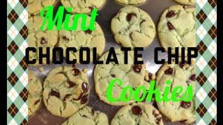 DIY Delicious Mint Chocolate Chip Cookies!
