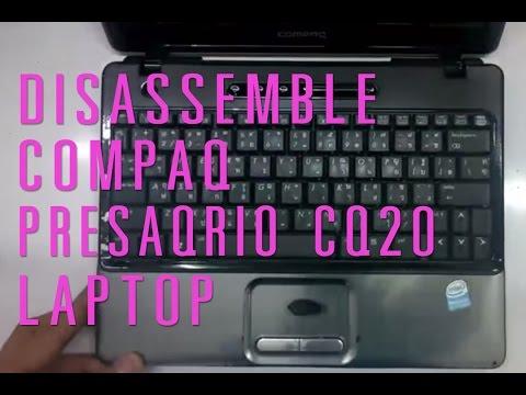 How to take apart/disassemble Compaq presario CQ20 laptop