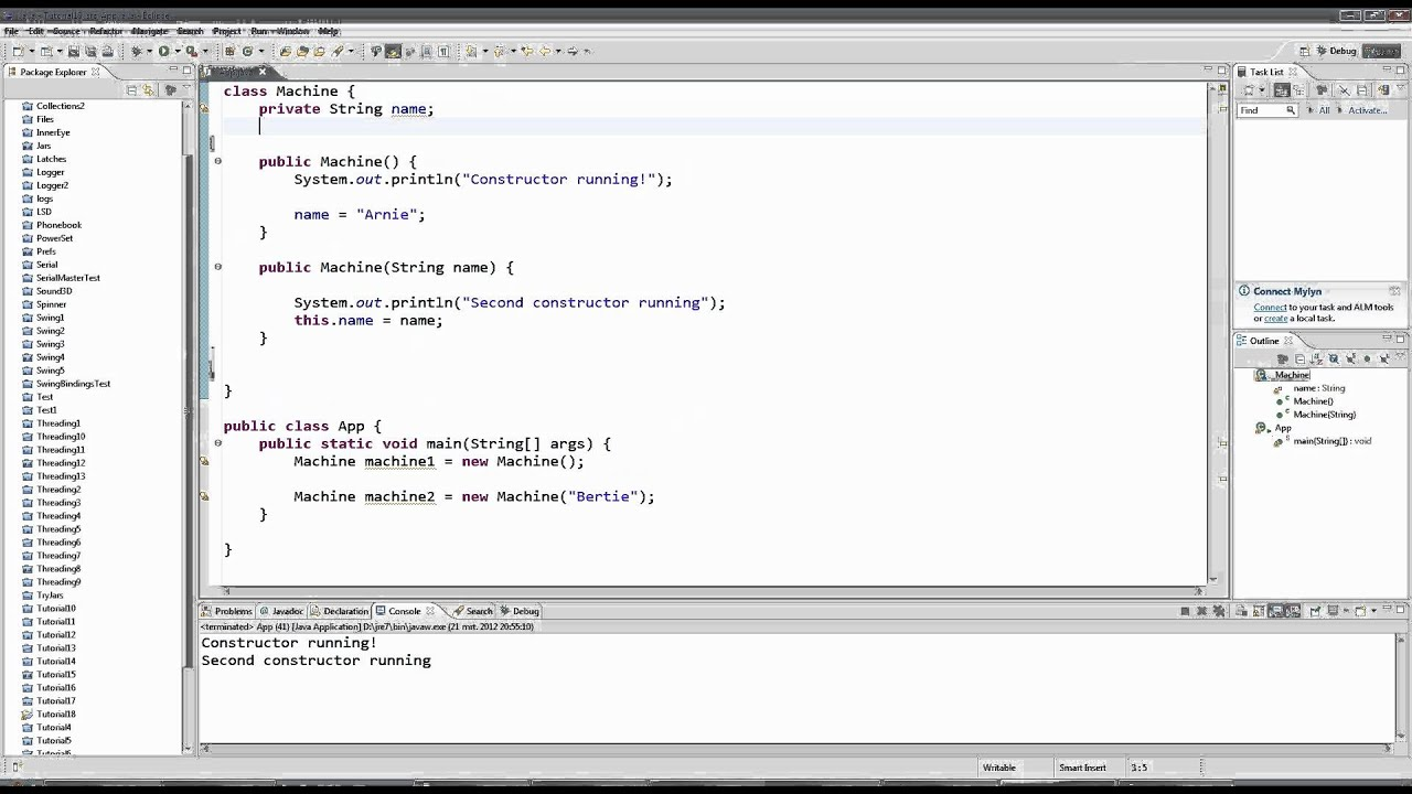 Learn java tutorial for beginners part 18 constructors youtube learn java tutorial for beginners part 18 constructors baditri Image collections