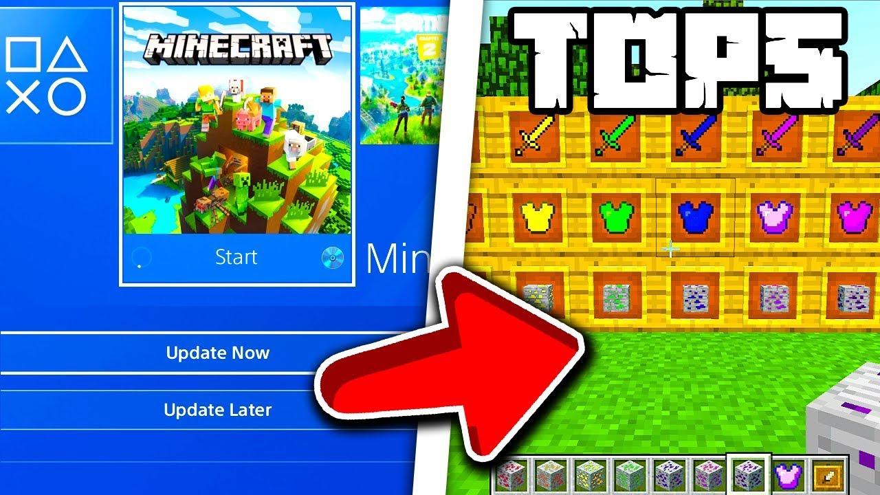 Minecraft PS4 Bedrock Top 5 Mods Minecraft PS4 Bedrock Mods l
