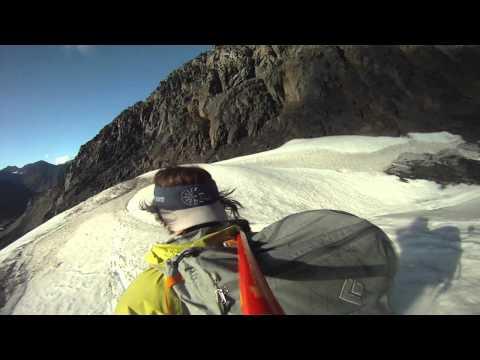 Jewel Glacier Early Season Skiing with Mini Crevasse Fun