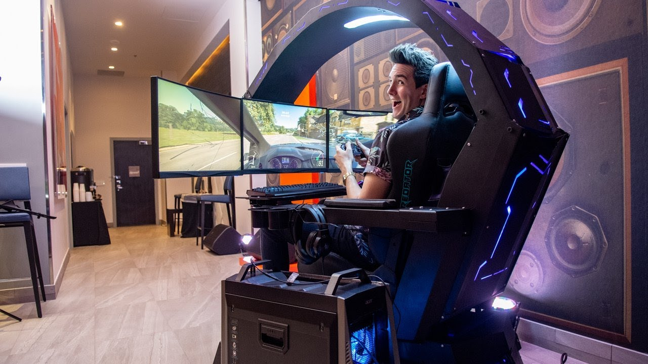 Best Gaming Cockpit 2019 Acer's $10,000 Gaming Cockpit is Insanely Cool   CES 2019   YouTube