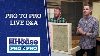 Pro to Pro Live Q&A