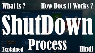 [Hindi] What is Shutdown Process | What If PC Does not Shutdown Properly | How to shutdown computer