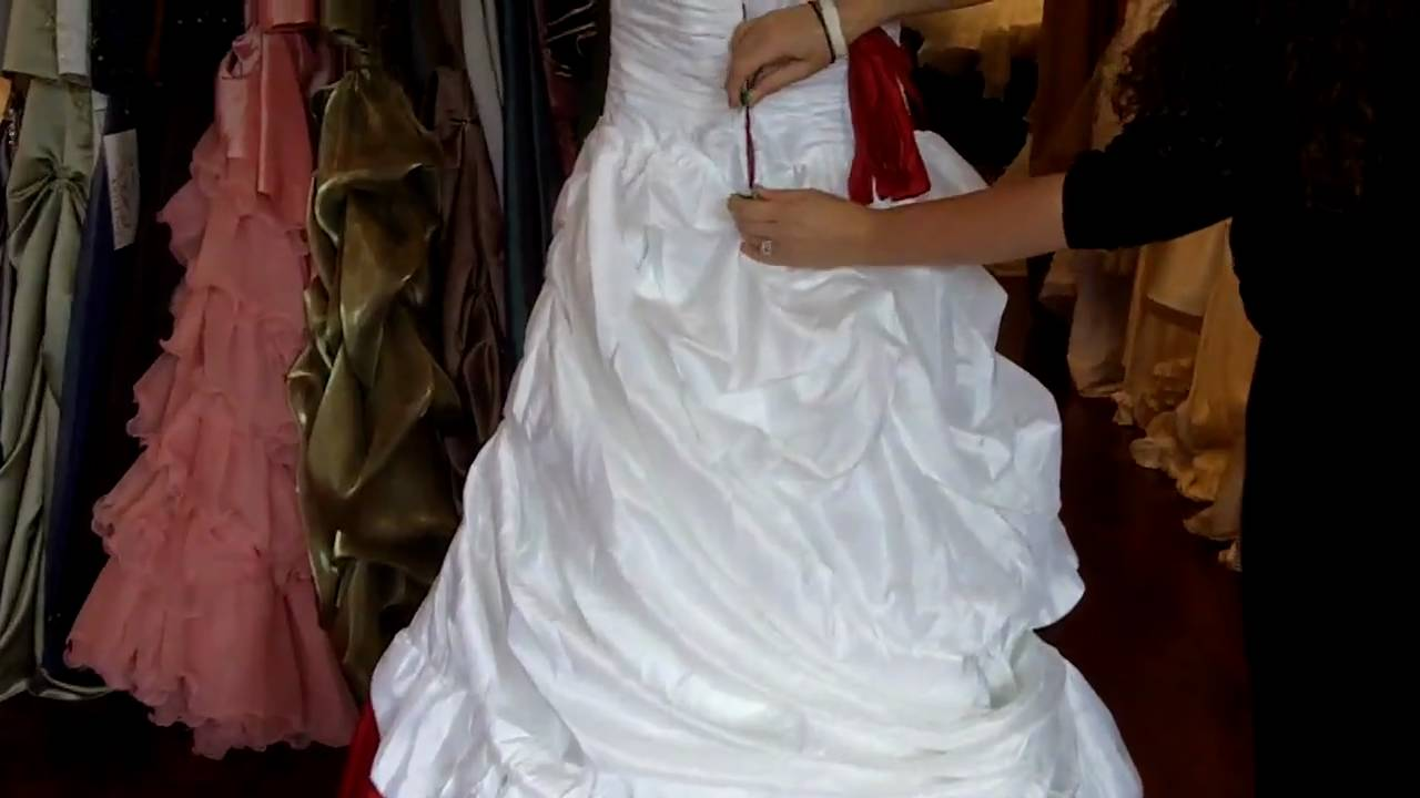 Red and White Wedding Dress from weddingdressfantasy.com - YouTube