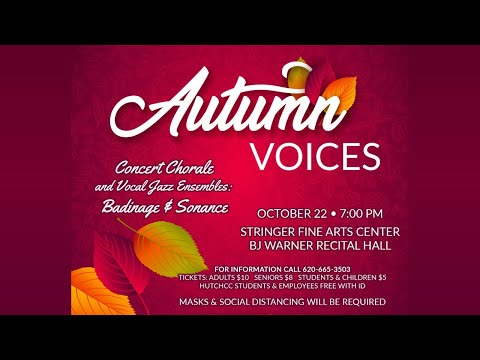 Hutchinson Community College Fine Arts presents Autumn Voices