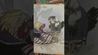Русские сказки про зверей.  Петушок и бобовое зёрнышко.