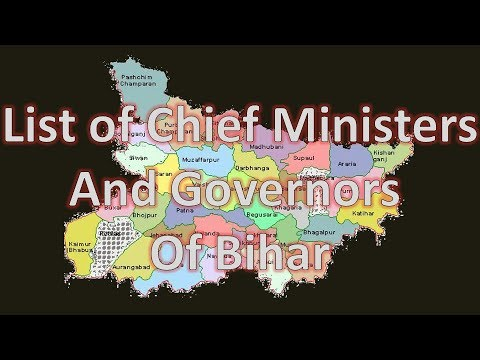 List of Chief Ministers and Governors of Bihar