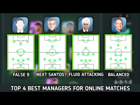 4 BEST MANAGERS FOR ONLINE MATCHES IN PES21 • From my Personal experience