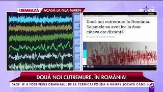 Două noi cutremure în România