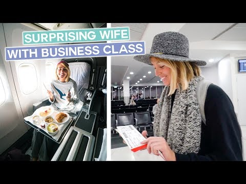 Surprising My Wife With Business Class Tickets!!
