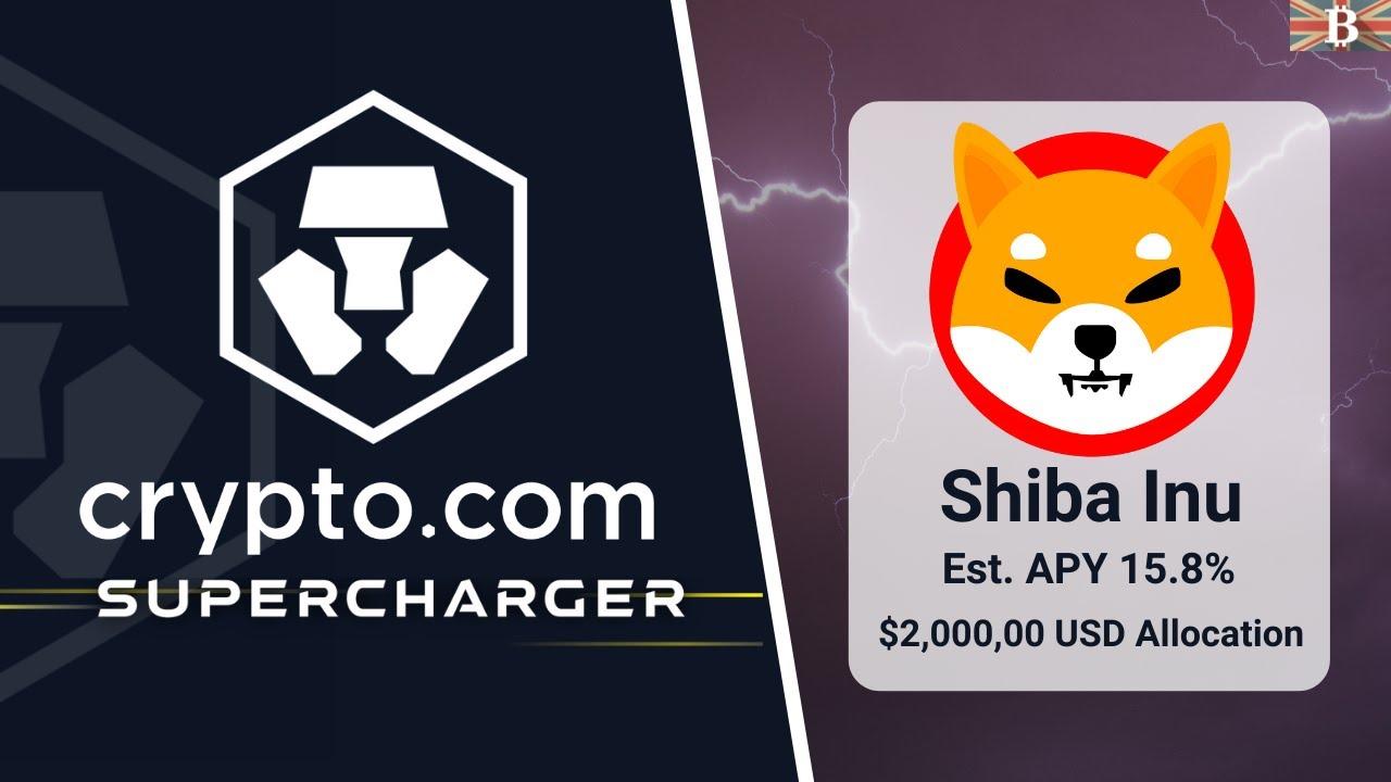 Crypto.com Supercharger Shiba Inu Event: Stake CRO & Earn SHIB (15.8% APY)