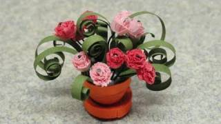 Quilled Miniature Plants: Carnations