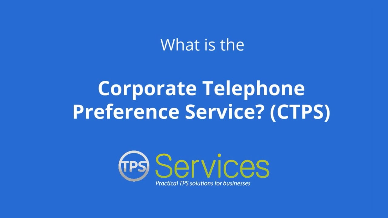 corporate telephone preference service