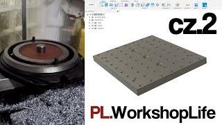 Projekt CAD - płyta montażowa / Swivel base fixture plate / P2