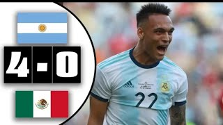Argentina 4-0 Mexico Halftime Highlights and goals HD | Lautaro Martinez's hatrick goals|11/9/19