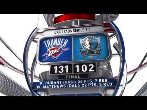 Oklahoma City Thunder vs Dallas Mavericks - April 21, 2016