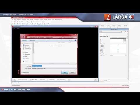LARSA 4D Introductory Tutorial Part 1