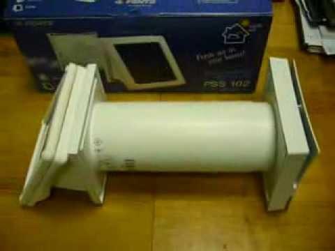 Вентиляционный клапан с теплоутилизацией для квартир, домов .