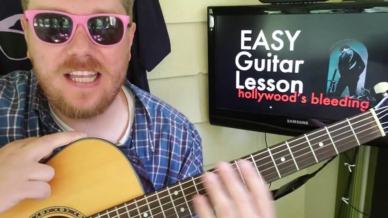 Post Malone - Hollywood's Bleeding (Leak Snippet)// easy guitar tutorial  beginner lesson