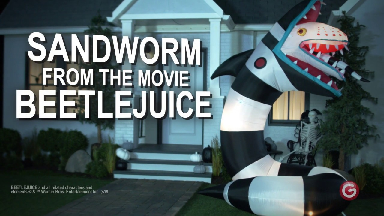 Airblown Inflatable Animated Beetlejuice Sandworm Youtube