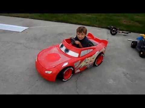 Power Wheels 24 Volt Battery Upgrade on Disney Pixar Lightning McQueen Race Car
